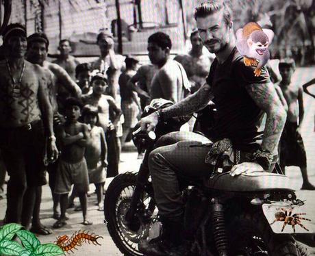David Beckham on a motorbike