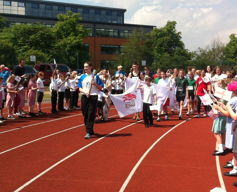 Queen's Baton Bury St Edmunds