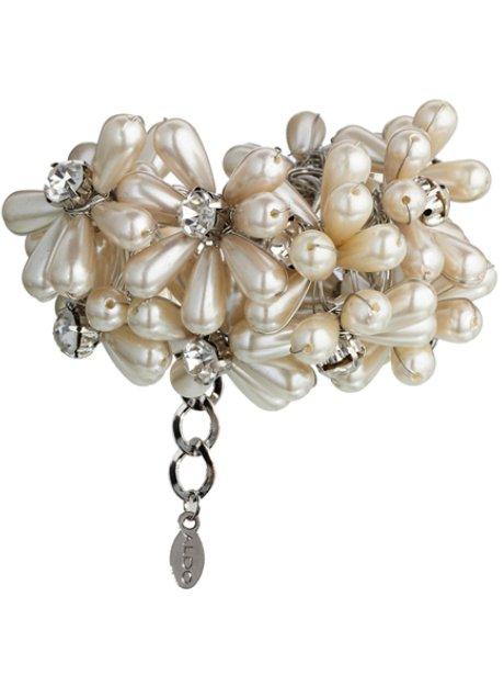 ALDO Baney Pearl Flower Cuff Bracelet