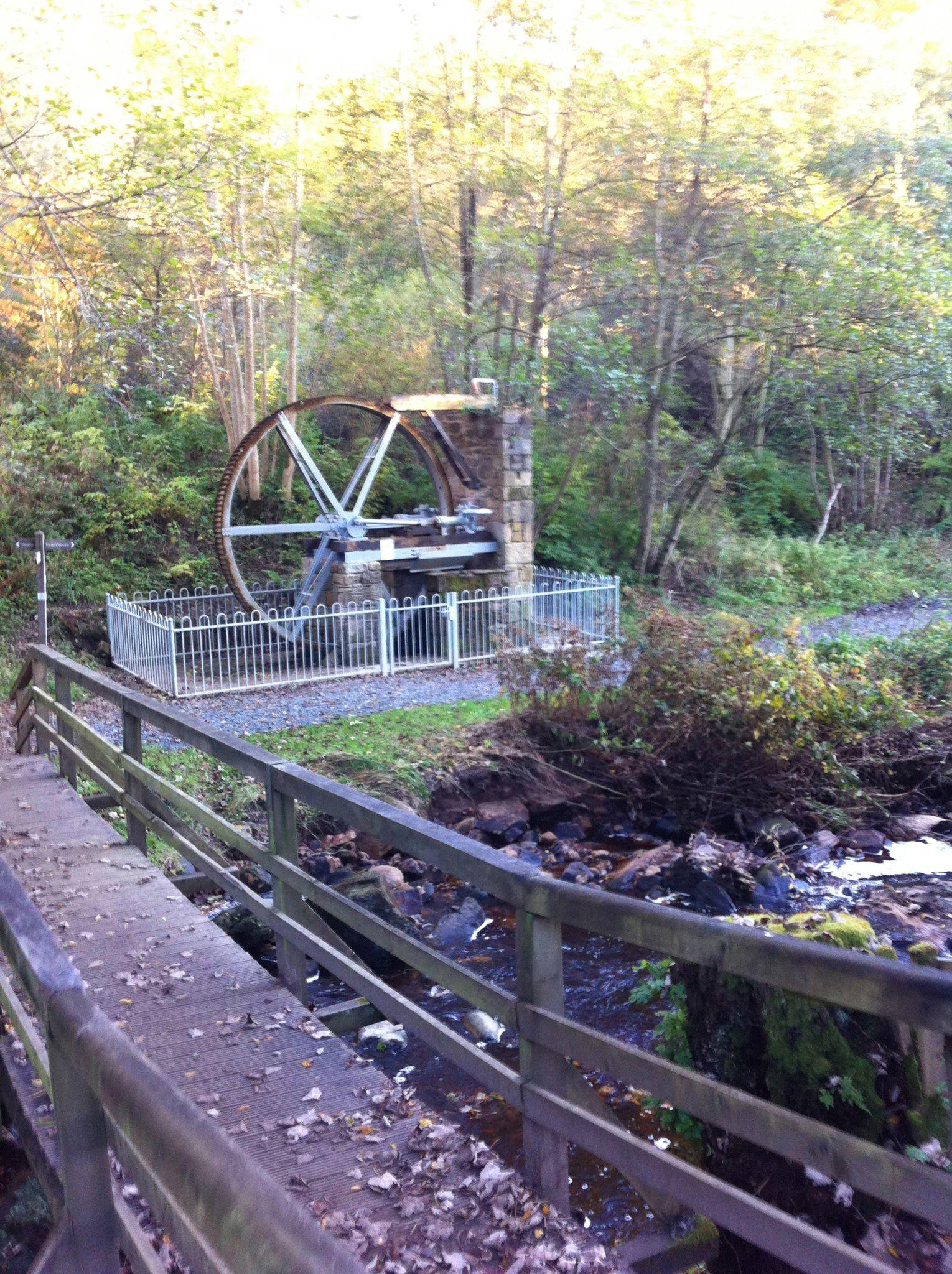 Cragside northumberland water wheel