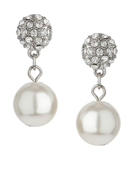 Dorothy Perkins Pearl And Sparkle Earrings