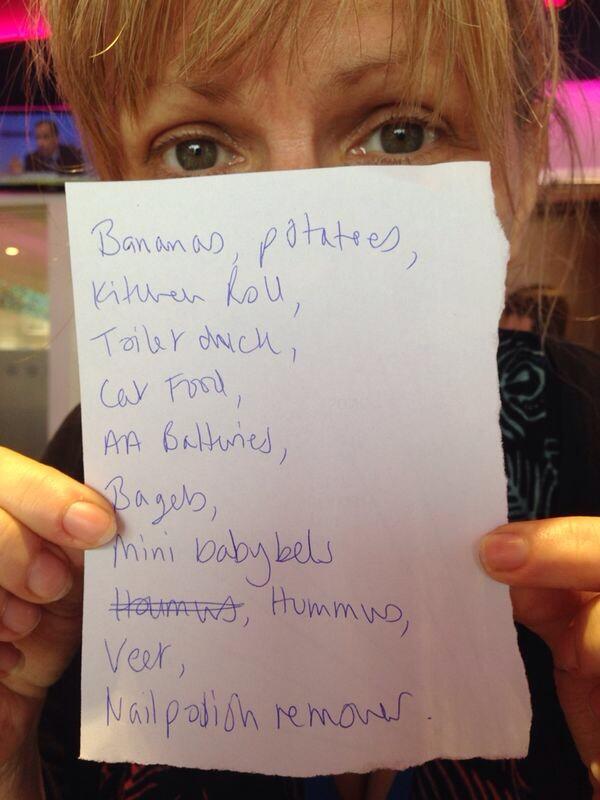 Rachel Holding Shopping List