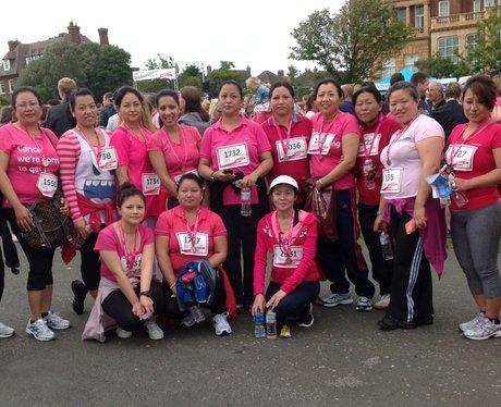 Heart Angels: Folkestone Race For Life Finish Line