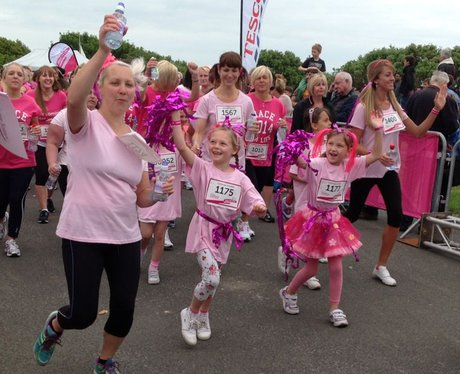 Heart Angels: Folkestone Race For Life Finish Line