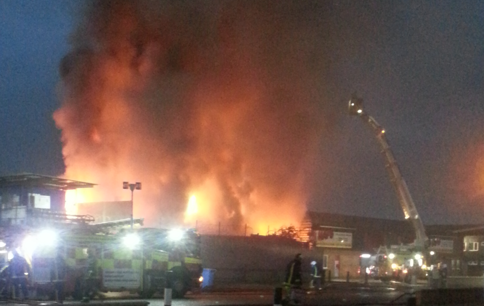 Northampton fire St James Mill