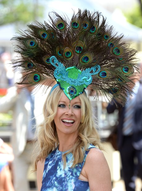 Royal Ascot peacock hat 2014