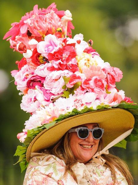 Royal Ascot flower hat