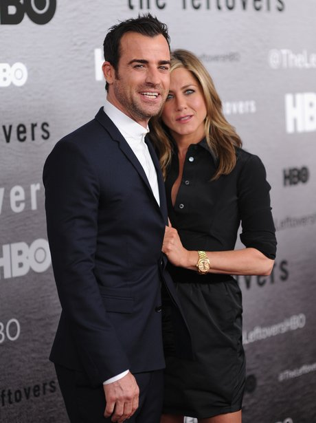 Justin Theroux and Jennifer Aniston at The Leftovers premiere