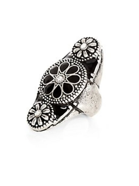 New Look Oval Flower Ring