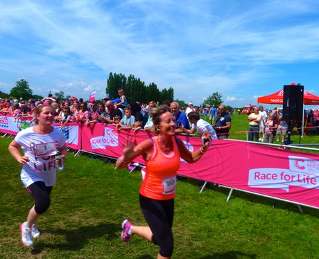 Race For Life 2014 - Luton - Finish Line and Medal