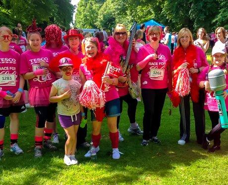 Race for Life Bury St Edmunds 2014 - The Heart Zon