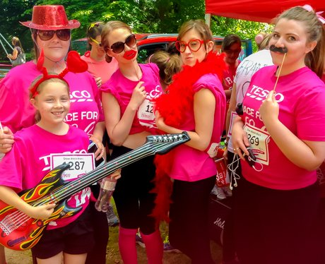 Race for Life Bury St Edmunds 2014 - The Heart Zon