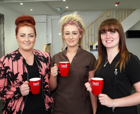 Ladies from Headmasters hair recieving their new m