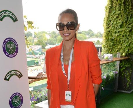 Alesha Dixon attends wimbledon