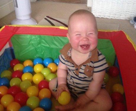 baby smiles in pall pitt