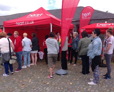 Busy crowds at our Heart Angel tent.