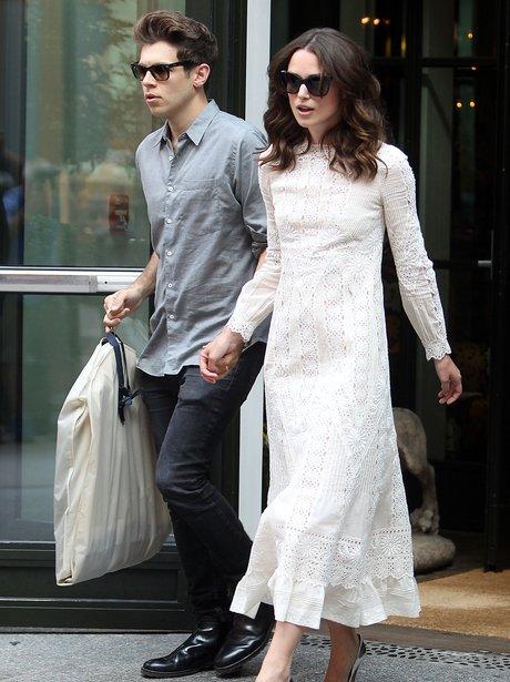Keira Knightley and james righton walking
