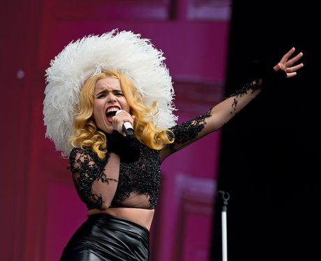 Paloma Faith on stage at Calling Festival