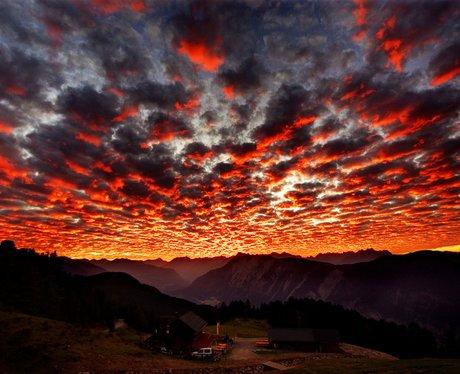 A stunning orange sunset
