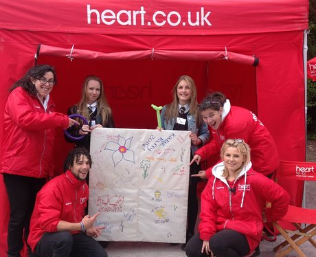 Our Heart Angels with Megan and Jasmine from Ysgol Dinas Bran.
