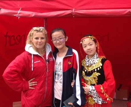 Hannah with Julia and Amy