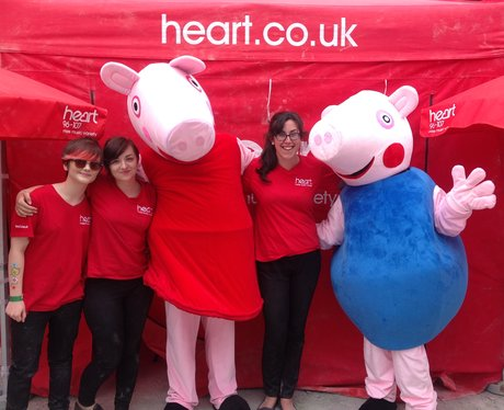 Heart Angels Nia, Melissa and Rachel with double Peppa Pig!