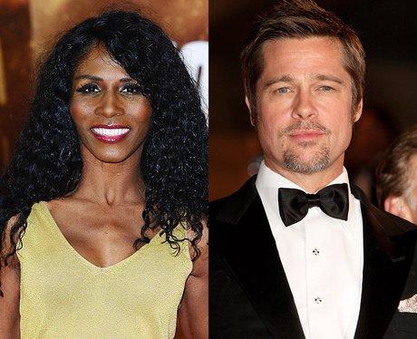 Sinitta and Brad Pitt