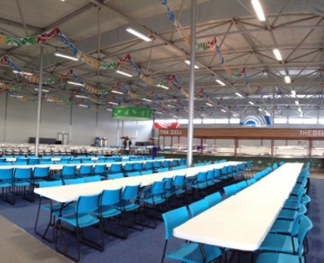 The canteen at the Glasgow 2014 Athletes' Village