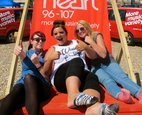 The Heart Angels took their giant deckchair to sun