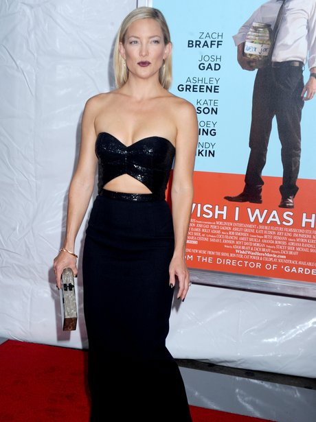 Kate Hudson in a black dress