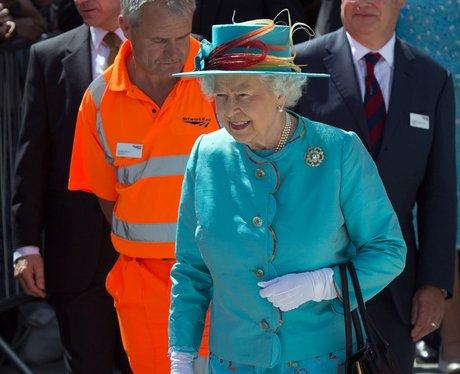 Queen Elizabeth II Royal opening of Reading Statio
