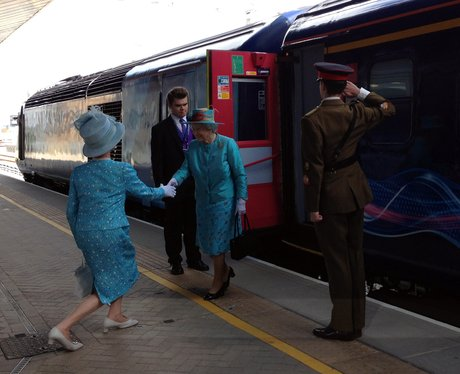 Queen Opens Revamped Reading Train Station