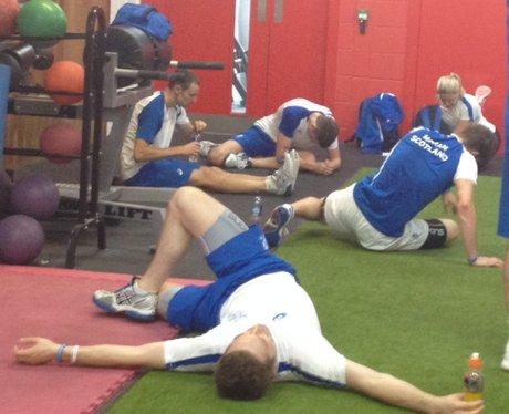 Team Scotland Squash Training