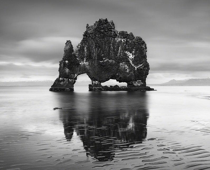 A rock in a lake