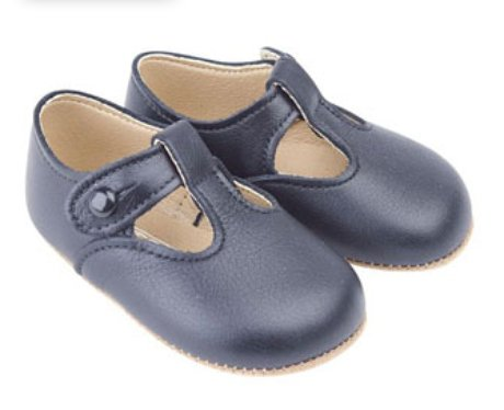 Early Days blue pre walkers shoes