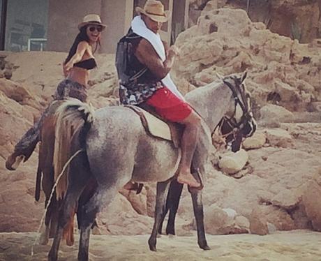 Naya Rivera and Ryan Dorsey horse riding