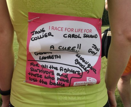 Race For Life Cirencester - The Messages
