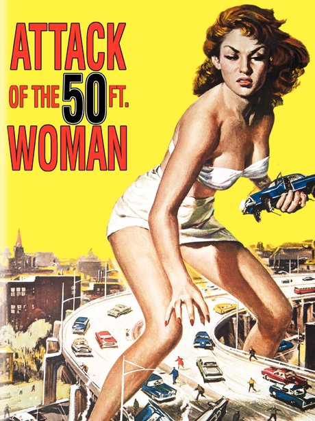 Iconic sexy film poster Attack of The 50th Woman