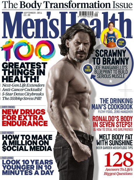 Joe Manganiello on Septembers Men's Health Cover