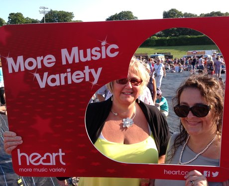Listeners pose with Heart frame at Jessie J gig