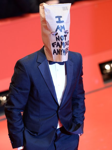 Shia LeBeouf bag On Head