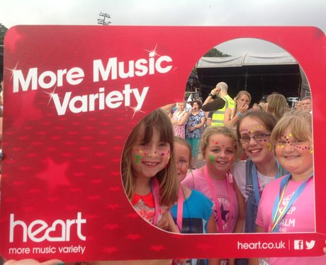 Heart listeners pose with Heart frame at Jessie J