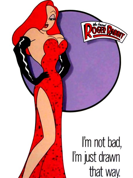 Who Killed Roger Rabbit - Iconic Sexy Film Posters - Heart-3698