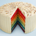 Image 1: Rainbow cake with frosting