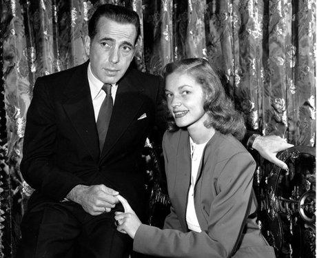 Humphrey Bogart with his wife actress Lauren Bacal