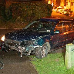 The car Jake Austin drove in Gillingham