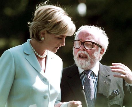 Lord Richard Attenborough with Princess Diana