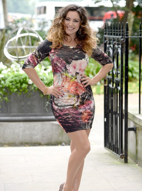 Kelly Brook in a skin tight dress For Simply Be