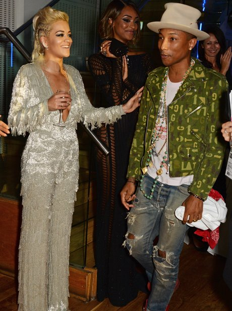 Rita Ora and Pharrell Williams