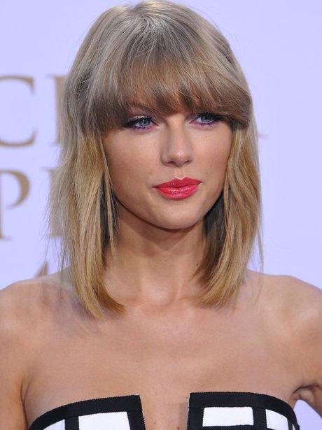 Taylor Swift Updates Her Bob With A Stylish Fringe.